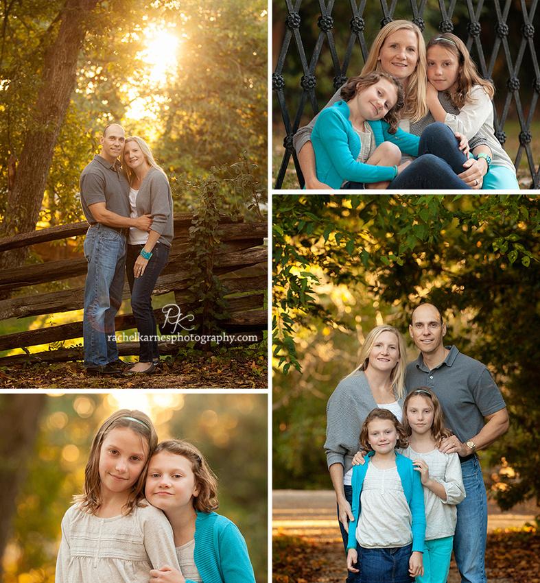 fall family photos in williamsburg