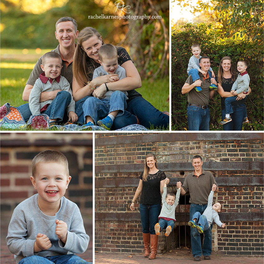 fall family portraits in virginia