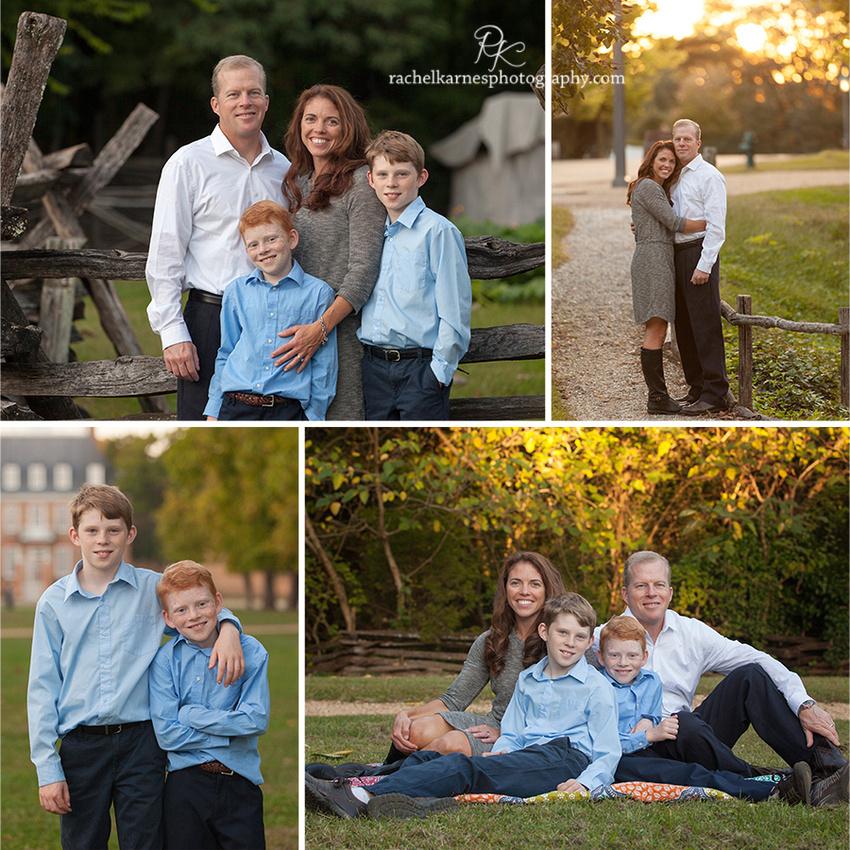 williamsburg custom family portraits