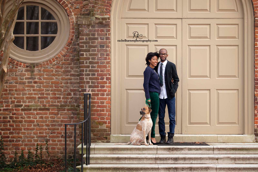 William and Mary Wren Building Couple Photo Session