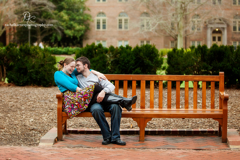 Student couple on William and Mary Campus