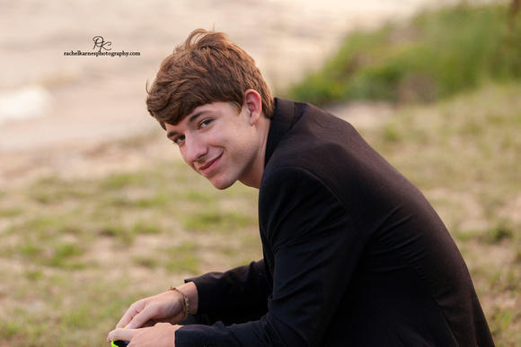 boy on colinal parkway beach in williamsburg VA