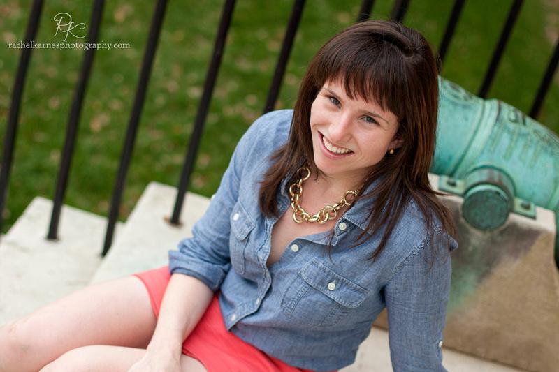Senior Portrait at Wren building on William and Mary Campus