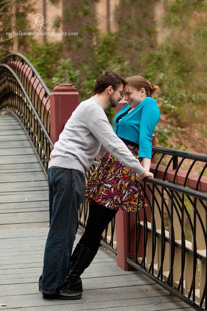 Couple on William and Mary Crim Dell Bridge