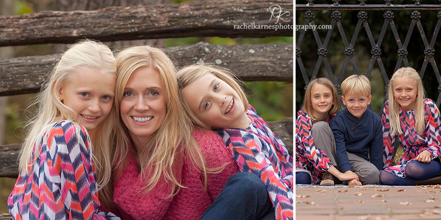 coordinate around patterns for family photos