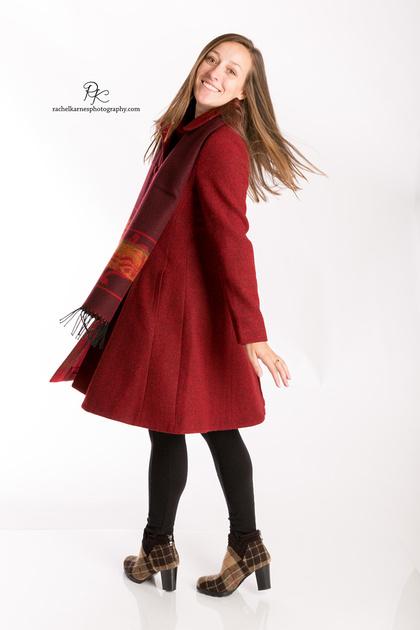 girl-modeling-red-swing-coat-in-williamsburg-va-product-shoot