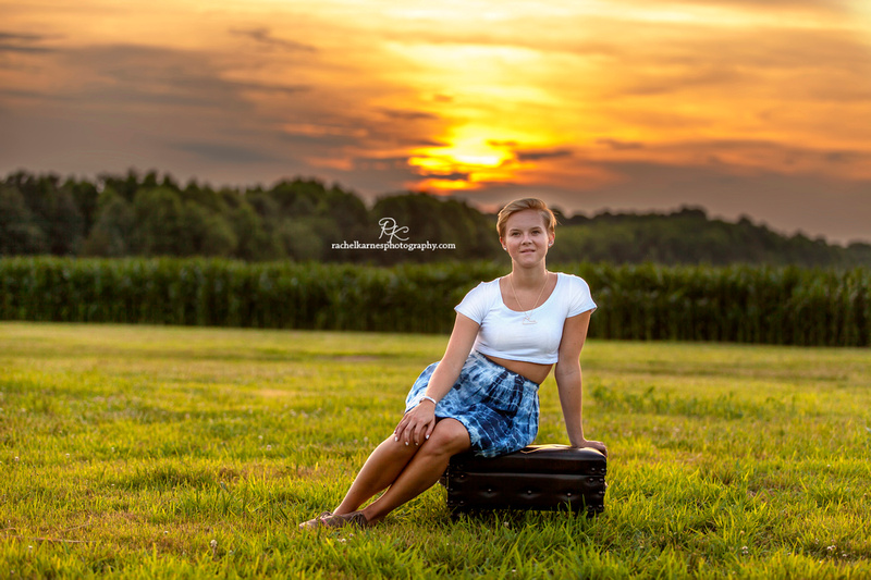 Virginia Sunset Senoir Photo Shoot